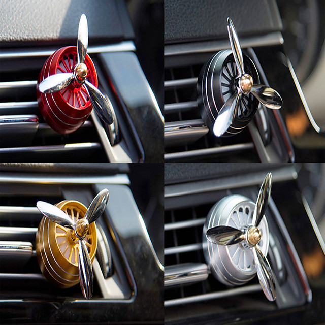 LED Mini Car Air Freshener Conditioning Alloy Auto Vent Outlet Perfume Clip Fresh Aromatherapy Fragrance LED Atmosphere light