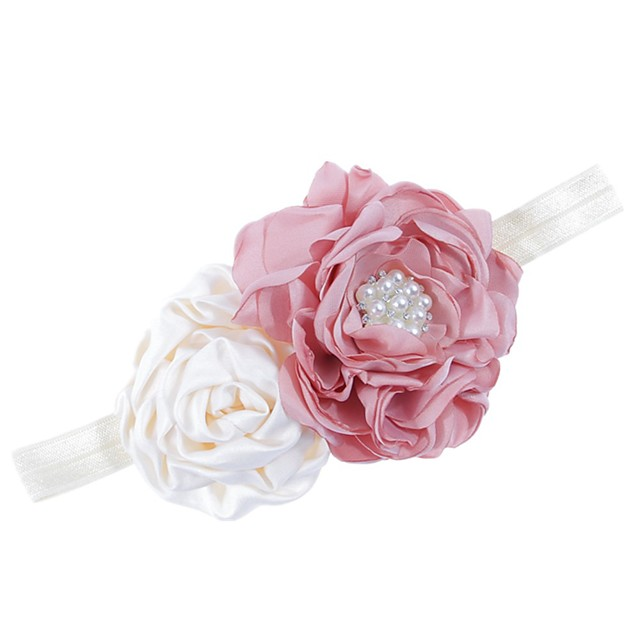 1pcs Kids / Toddler Girls' Active White Floral Polyester Hair Accessories White / Purple / Blushing Pink One-Size