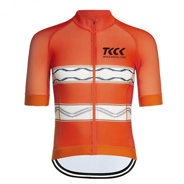 Men's Women's Short Sleeve Cycling Jersey Downhill Jersey Dirt Bike Jersey Lycra Polyester Green / Yellow White Yellow Solid Color Stripes Bike Jersey Top Mountain Bike MTB Road Bike Cycling