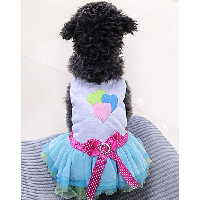 dog dress tutu skirt princess puppy dress vest cute spring summer pet clothes apparel for small dogs and cats