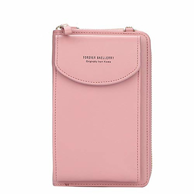 aras small crossbody cell phone bags with credit card slots for women multifunction crossbody purses wallet with zipper (dark pink)