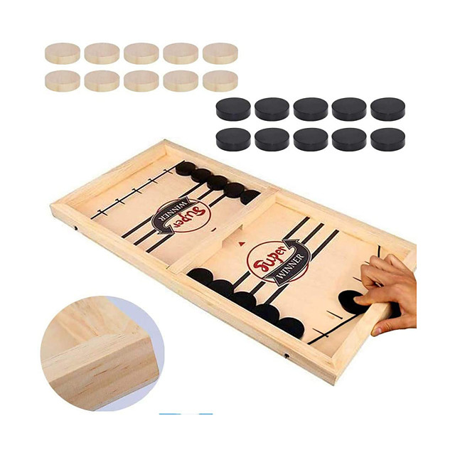Board Game Fast Sling Puck Game, Tabletop Slingshot Games Wooden family game Parent-Child Interaction Home Entertainment Kid's Adults Boys and Girls Toys Gifts