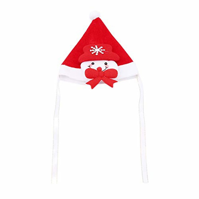 cute christmas design style pet hat headdress mini funny cats and dogs headband accessories supplies,snowman