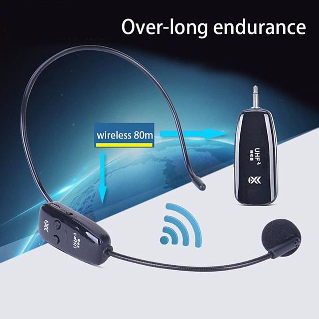 Wireless Microphone Headset Mic for Voice Amplifier Speaker Teaching Tour Guide