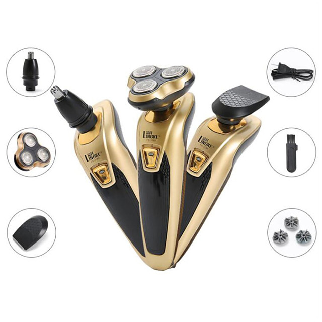 Men Electric Shaver Rechargeable Beard Trimmer Washable Wet Dry Beard Cutting Machine Multifunctional Floating Razor