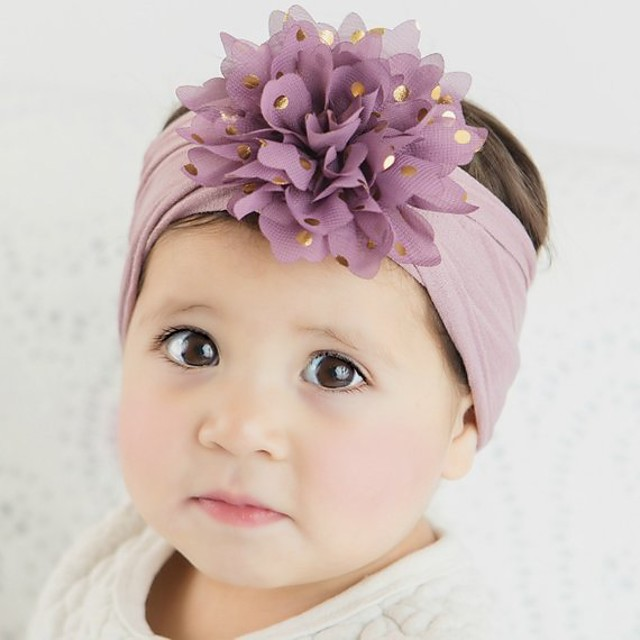 1pcs Toddler Girls' Sweet Floral Floral Style Hair Accessories White / Black / Purple