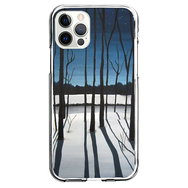 Scenery Case For Apple iPhone 12 iPhone 11 iPhone 12 Pro Max Unique Design Protective Case and Screen Protector Shockproof Back Cover TPU