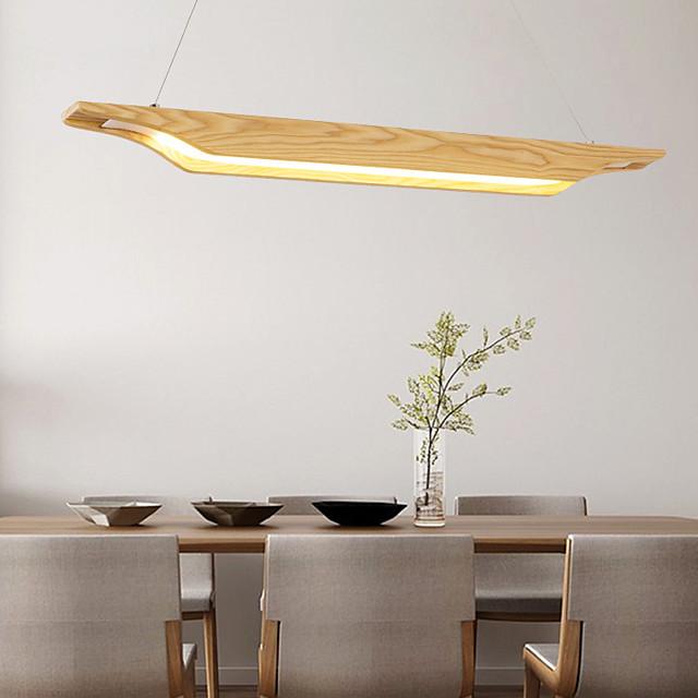 65/95/120cm LED Pendant Light Modern Nordic Wood Island Light Painted Finishes 110-120V 220-240V