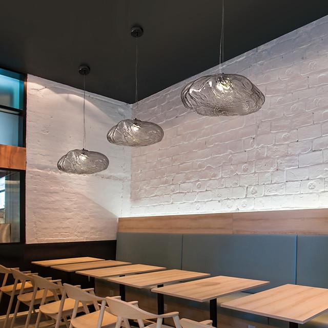 25 cm Single Design Pendant Light Glass Metal LED Nordic Style Dining Room Restaurant 110-120V 220-240V