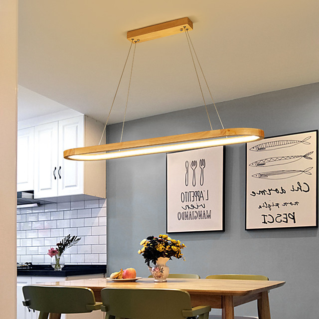 70cm Circle Pendant Light Wood Nordic Modern Dining Room Bar Painted Finishes Christmas Decoration 110-120V 220-240V