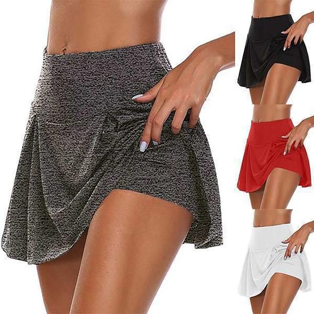 женская спортивная юбка, беговая юбка, спортивные штаны, подкладка 2 в 1, 13 цветов, фитнес, тренировка в тренажерном зале, тренировка для бега, дышащая, быстросохнущая, мягкая, больших размеров, спорт, однотонный, неоновый, зеленый, белый