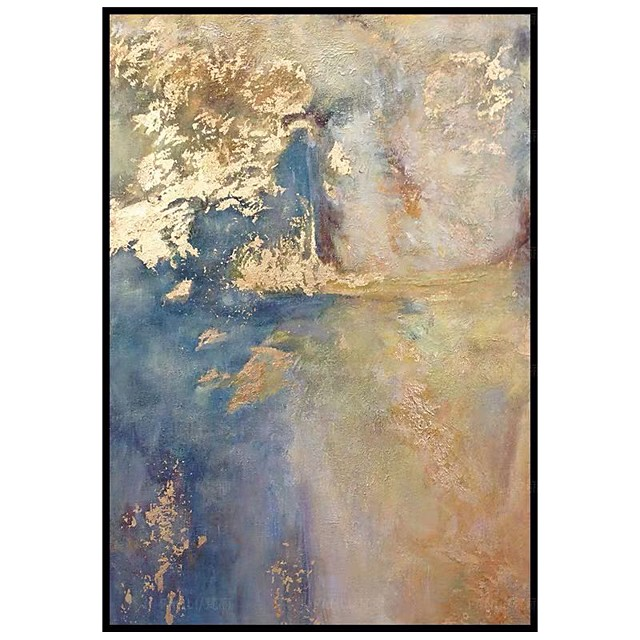 100% Hand painted Bedroom decoration Gold Abstract Oil Painting On Canvas Modern Large size Canvas Art Home Decor Picture no frame