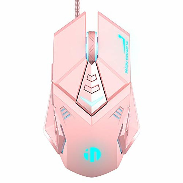 Inphic PW5 Gaming Mouse Wired, Programmable Ergonomic Game Usb Computer Mice  Gamer Desktop Laptop PC Mouse 4 Adjustable DPI Levles for Windows IOS