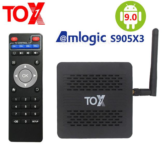 2020 TOX1 Amlogic S905X3 Smart Android 9.0 TV Box 4GB RAM 32GB ROM 2.4G 5G WiFi Bluetooth 1000M LAN USB 3.0 4K HD Set top Box
