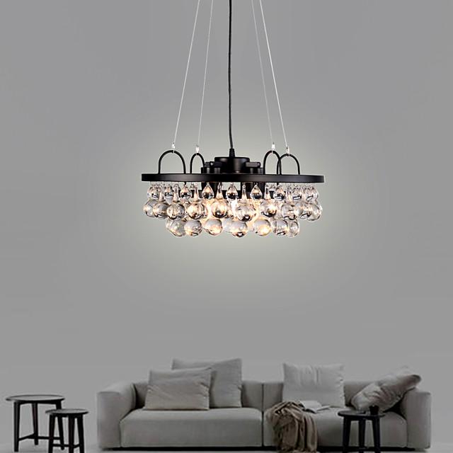 4-Light Post-modern Light Crystal Chandelier Living Room Lighting Simple American style luxury dining room lighting