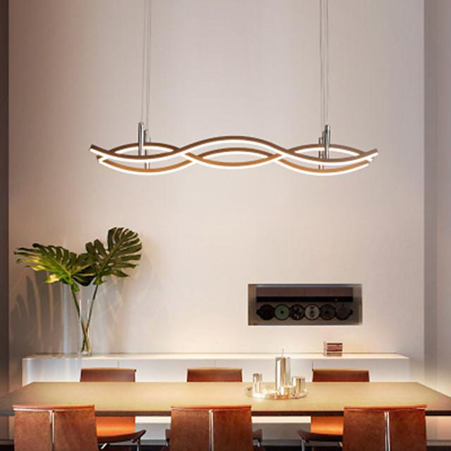 55/68 cm LED Pendant Light Wave Design Island Light Dining Room Restaurant Aluminium Alloy Painted Finishes 110-120V 220-240V