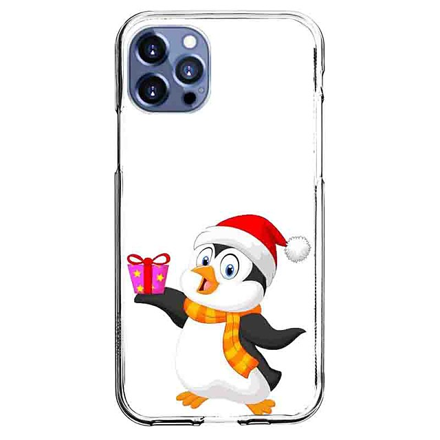 Penguin Case For Apple iPhone 12 iPhone 11 iPhone 12 Pro Max Unique Design Protective Case with Screen Protector Shockproof Back Cover TPU