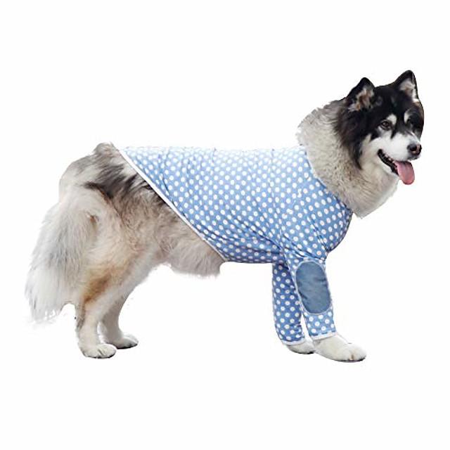 pet clothes, winter dog shirt large dog pajamas cotton t-shirt wave point dog costume for medium large dog (10xl, blue)