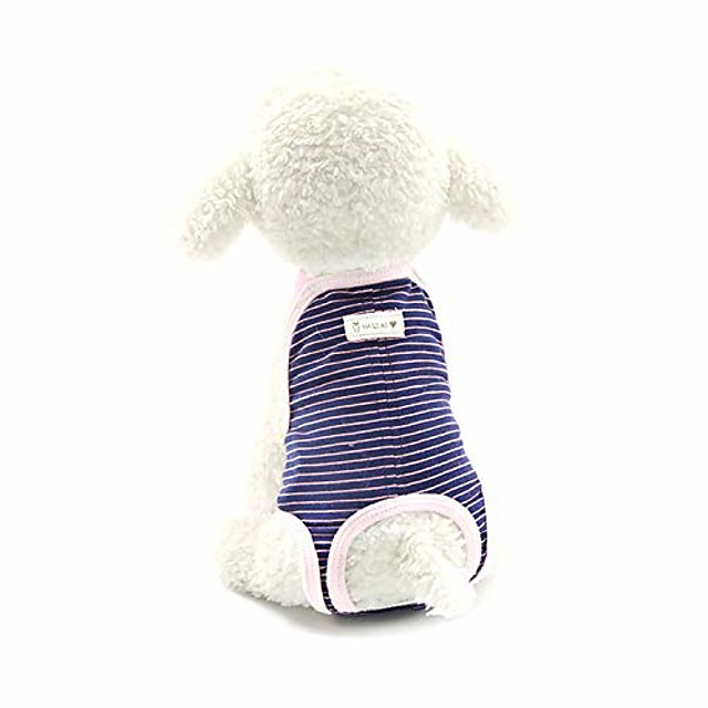 pet diaper stripes safe and comfortable pet sanitary pants puppy safety pants,blue,s