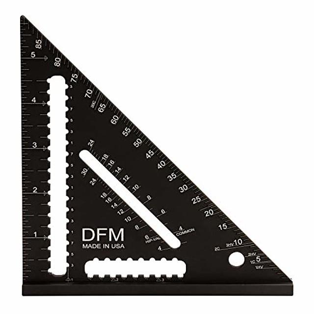 dfm 6 inch trade edition carpenter square made in usa (black)