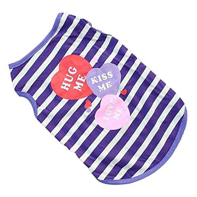 pet shirt,wakeu small dog boy clothes patten vest puppy summer apparel (m, purple)