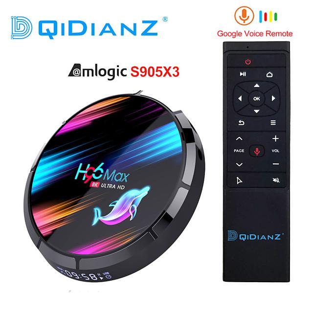 4gb + 32gb h96 max x3 4gb 32gb 8k amlogic s905x3 smart tv box android 9.0 dual wifi 1080p 4k youtube set top box pk x96air x3 a95x h96max