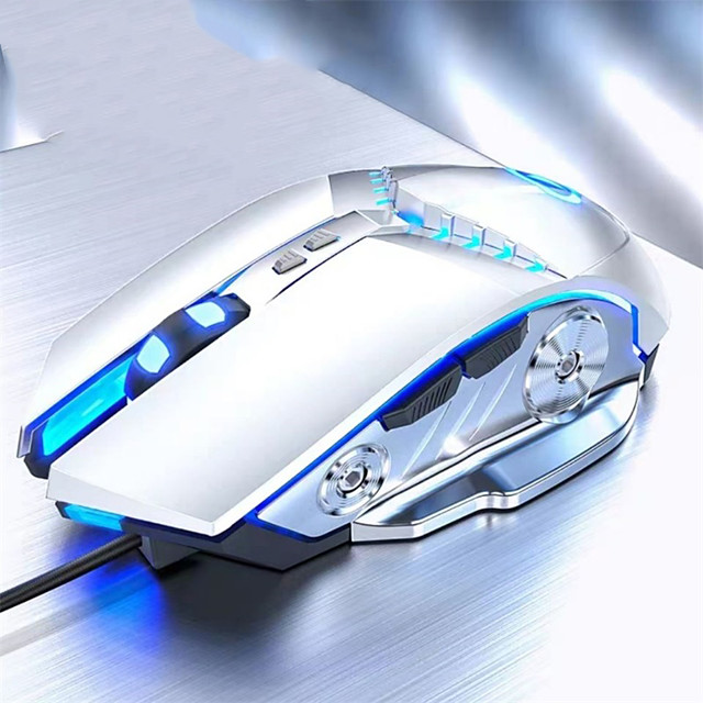 Gaming Mouse Wired Computer Mouse 3500 DPI Fast Move Ergonomic Optical Breathing Light Mouse Mechanical Laptop Pc Mouse