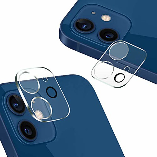 2 pack Camera Lens Protector Compatible with iPhone 12Pormax iPhone 11 Tempered Glass Camera Protector  Case Friendly Back Lens Rear Camera Protective Film For iPhone 12 mini iPhone 11promax