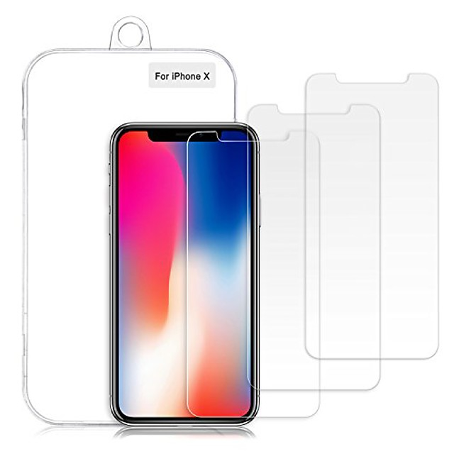 iphone xs/x screen protector, 0.26mm 9h tempered shatterproof glass screen protector anti-shatter film [3d touch compatible & 3-pack]