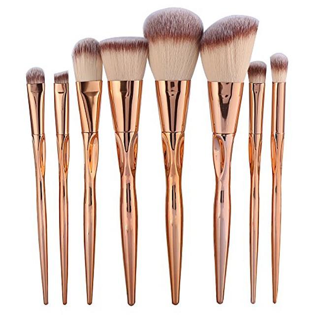 makeup brushes,8pcs/set makeup brushes foundation eyeshadow blush lip blending cosmetic tool kit concealers eye shadows make up brushes (rose gold)