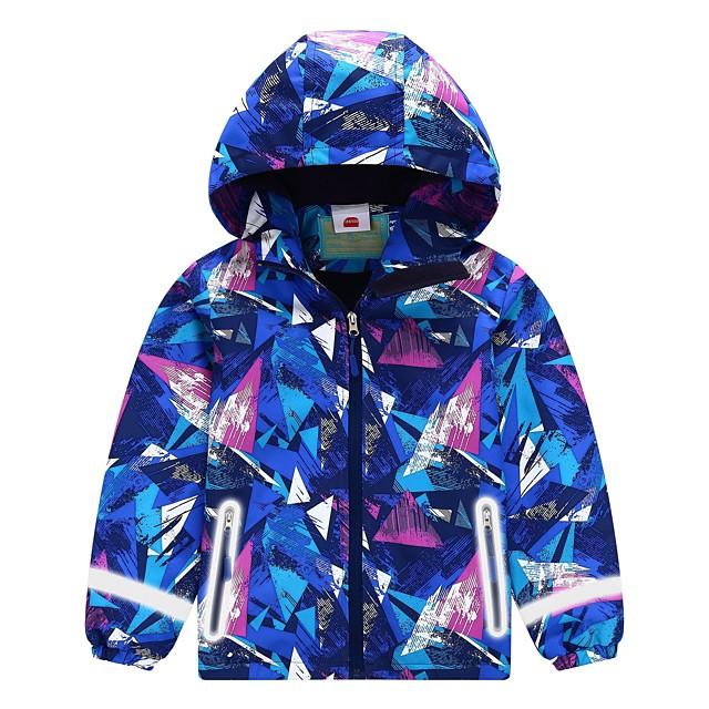AKIMPE Womens Windbreaker Lightweight Lined Zip up Hooded Button Stripe Snowboard Trench Coats