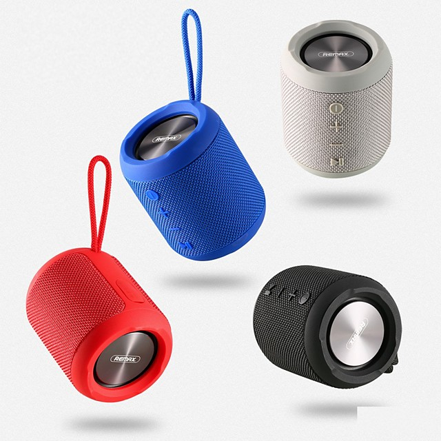 Remax RB-M21 Portable Wireless Bluetooth Speaker  Bluetooth 4.2 with Dual Driver Waterproof FM Radio TWS AUX Outdoor Speaker 3.5W*2 4 Colors To Choice 1PCS