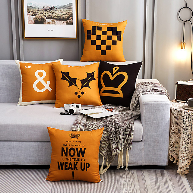 Yellow Geometric Pattern Polyester Throw Pillow Cushion Cover Car Home Decoration Sofa Bed Decorative Pillowcas