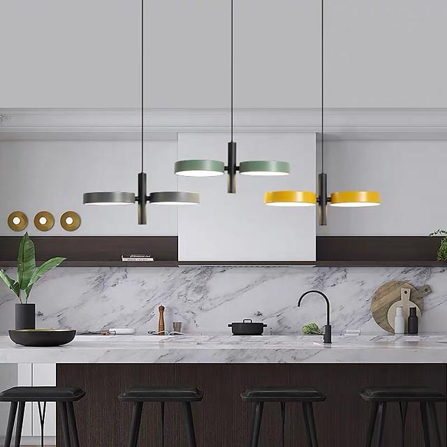 34 cm LED Pendant Light Nordic Tricolor Light Island Light Metal Painted Finishes Modern 110-120V 220-240V