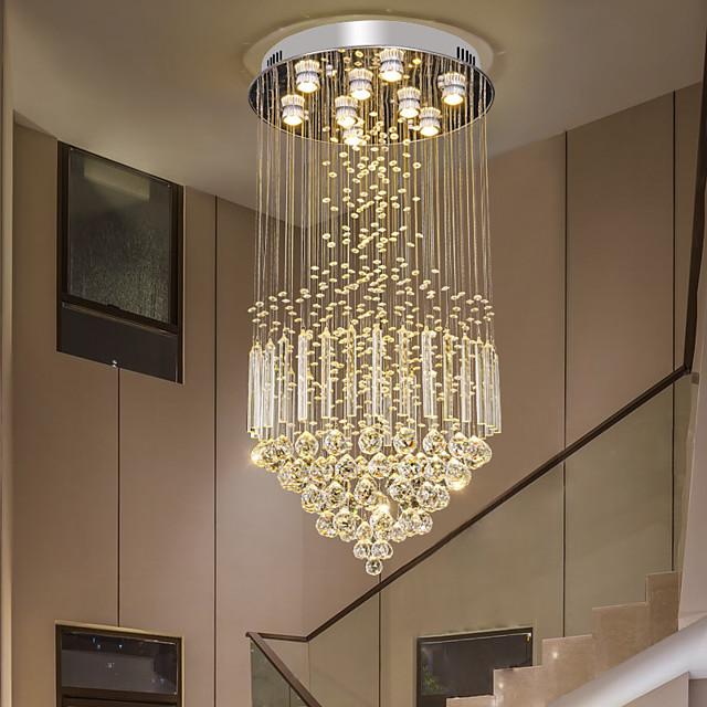 50cm LED Crystal Chandelier Ceiling Light DIY Modernity Luxury Globe K9 Crystal Pendant Lighting Hotel Bedroom Dining Room Store Restaurant LED Pendant Lamp Indoor Crystal Chandeliers Lighting