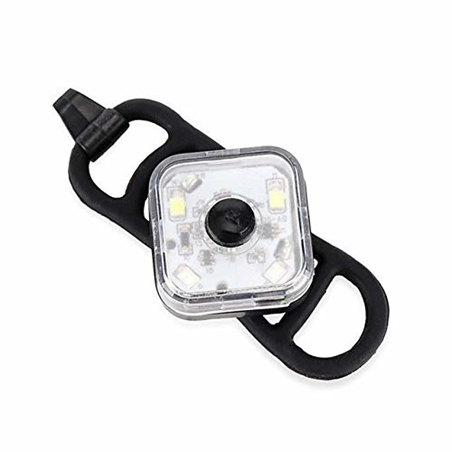 bicycle light led night cycling front headlight safety taillight running backpack warning light with battery bike lamp (color : white)