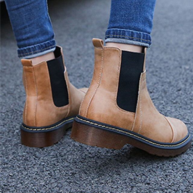 Ivory Studs Lace up Boots Square Toe Chunky Heel Ankle