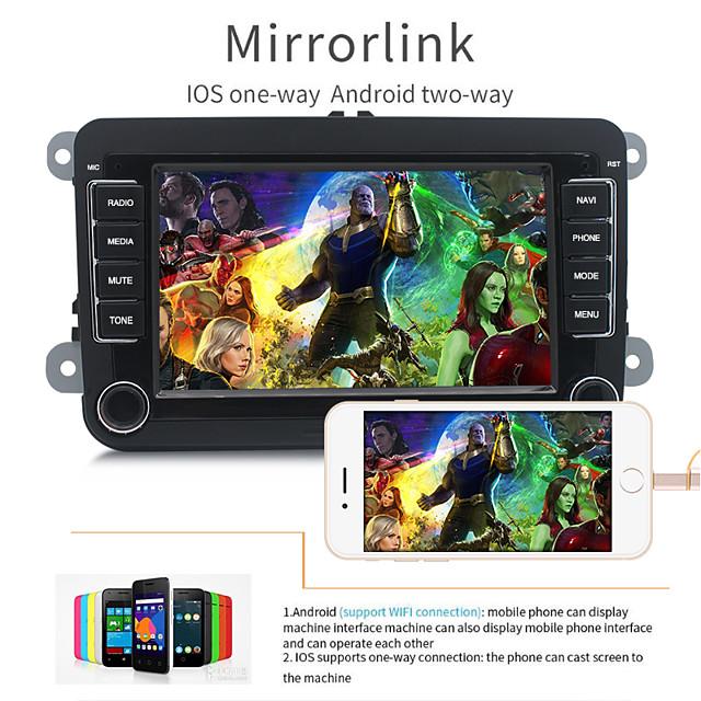 Universal 7 Inch 2 Din Radio Car Multimedia Player 32GB GPS Navigation Bluetooth Wifi FM For Cars
