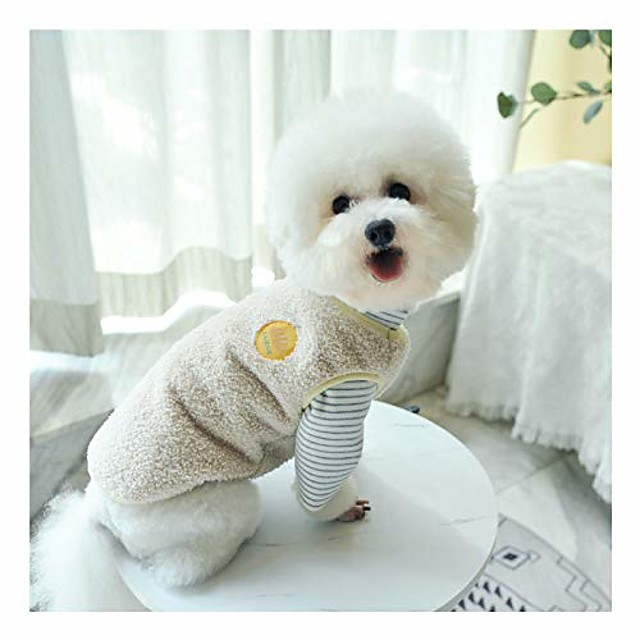warm plush dog vest for winter soft fleece lining sweater for small dog cat cute puppy kitten clothes