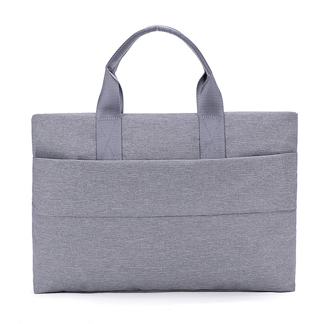 Unisex Polyester Laptop Bag Zipper Solid Color Daily Office & Career Handbags Black Pink Beige Gray