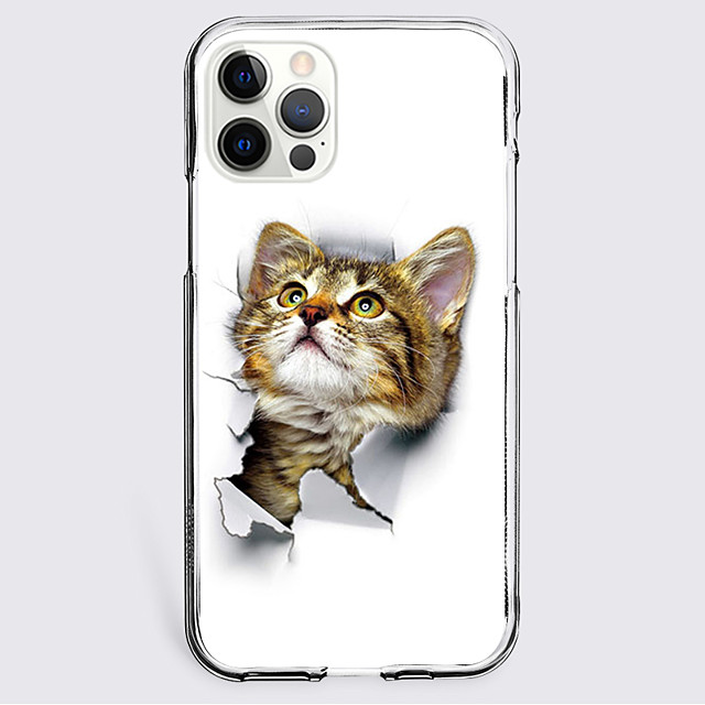 Lovely Cat Case For Apple iPhone 12 iPhone 11 iPhone 12 Pro Max Unique Design Protective Case Shockproof Back Cover TPU