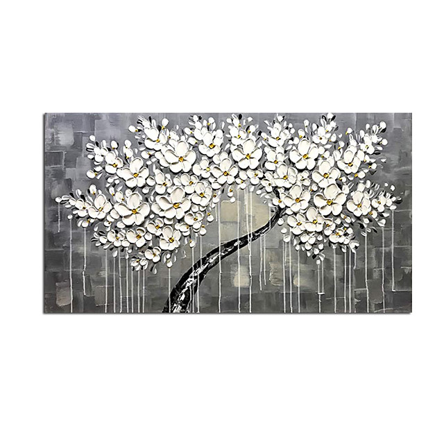 100% Hand-Painted Contemporary Art Oil Painting On Canvas Modern Paintings Home Interior Decor Abstract 3D Flower Art Painting Large Canvas Art(Rolled Canvas without Frame)