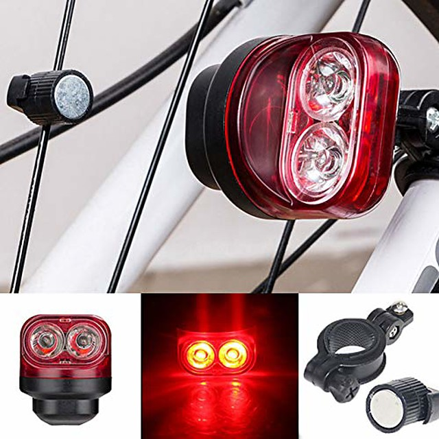 Bicycle taillight, magnetic, induction light, safety warning, for running, cycling, hiking, lighting for tools, red