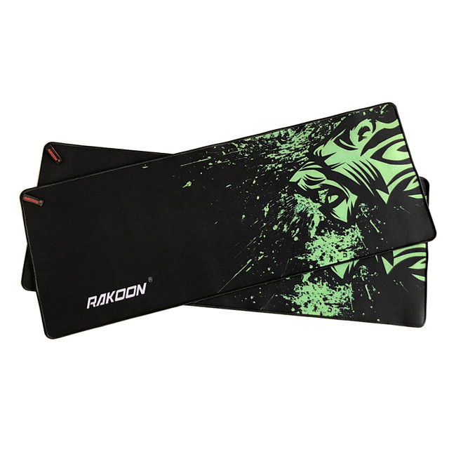 Green printed mouse pad 800*300 mm Gaming Mouse Pad / Keyboard Pad / Large Size Desk Mat Rubber Dest Mat