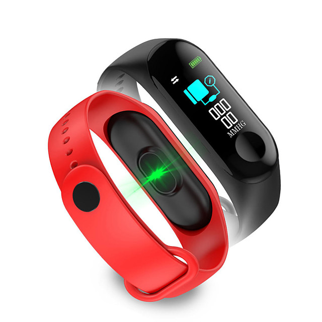 WAZA M3 Color Screen Smart Watch Heart Rate and Blood Pressure Monitor Smart Bracelet