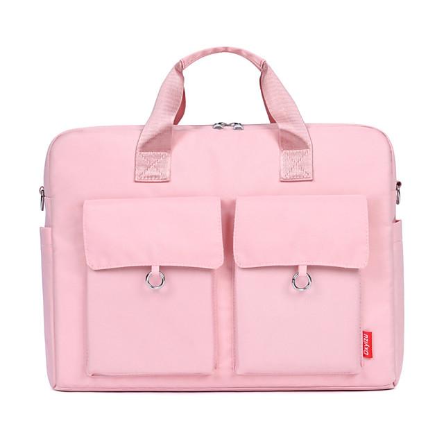 Unisex Nylon Laptop Bag Zipper Solid Color Daily Office & Career Handbags White Black Pink