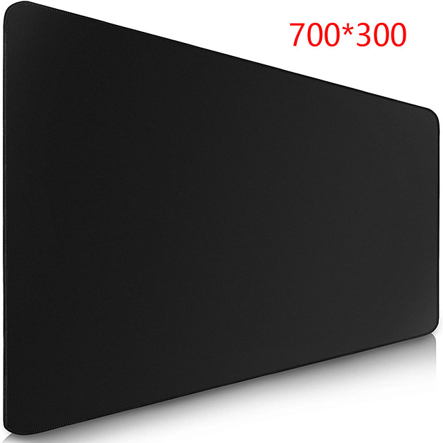 All Black 700*300 mm Gaming Mouse Pad / Keyboard Pad / Large Size Desk Mat Rubber Dest Mat