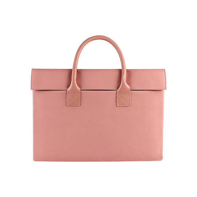 Unisex Oxford Cloth Laptop Bag Zipper Solid Color Daily Office & Career Handbags Sillver Gray Black Pink Dark Blue