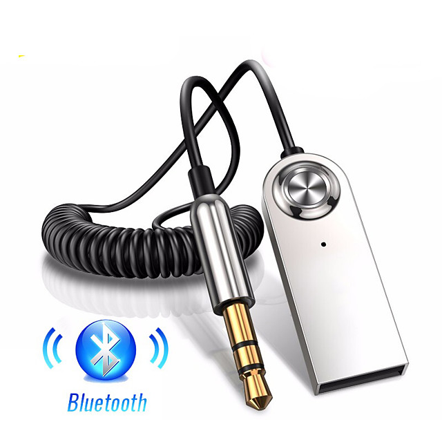 aux bluetooth adapter car 3.5mm jack dongle cable handfree car kit audio transmitter auto bluetooth 5.0 receiver black red