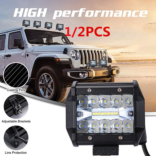 Car LED Working Lights LED Integrated Light Bulbs 200 W For universal All years 1/2pcs